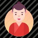 avatar, chinese, costume, japanese, man, people, profile icon