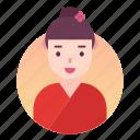 avatar, chinese, costume, japanese, people, profile, woman icon