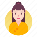 avatar, costume, japanese, people, profile, woman icon