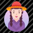 avatar, costume, japanese, people, profile, user, woman icon