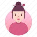 avatar, costume, japanese, outfit, people, profile, woman icon