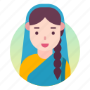 avatar, costume, indian, outfit, people, woman icon