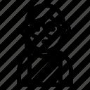 avatar, character, female, person, profile icon