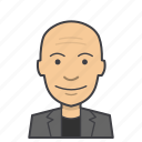 adult, avatar, bald, business, face, head, male, man icon