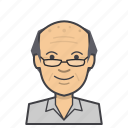 adult, avatar, face, head, male, man, old, senior icon