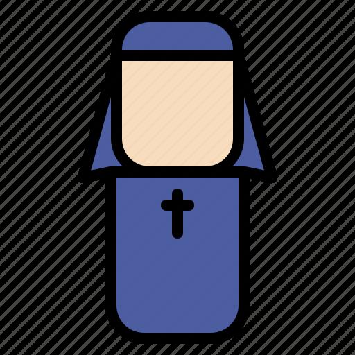 avatar, design, nun, people icon