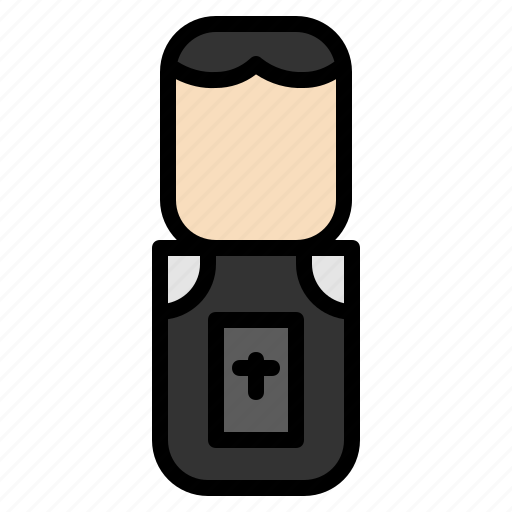 avatar, design, people, priest icon