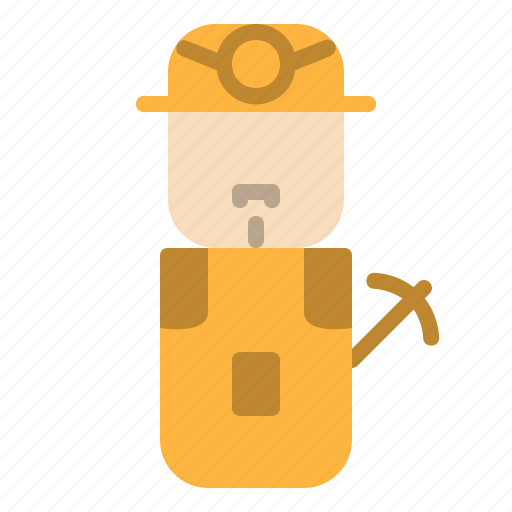 avatar, design, miner, people icon