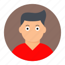 avatar, boy, face, young icon