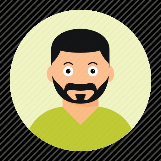avatar, beard man, face, man icon