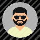beard man, face, man, swag icon