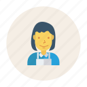 avatar, business, chef, girl, person, profile, user icon
