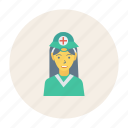avatar, doctor, female, girl, person, profile, user icon