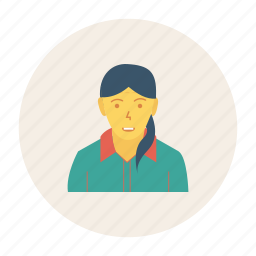 avatar, employee, female, person, profile, user, worker icon