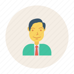 avatar, employer, member, person, profile, user, young icon