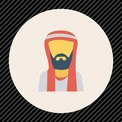arab, avatar, man, muslim, person, profile, user icon