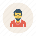 avatar, office, person, profile, staff, user, young icon