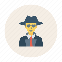 avatar, man, person, profile, spy, user, young icon