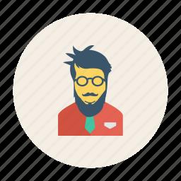 avatar, man, person, profile, staff, user, young icon