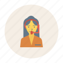 avatar, female, girl, person, profile, support, user icon