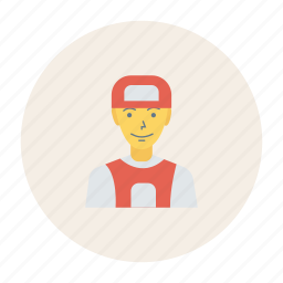 avatar, employe, person, profile, user, worker, young icon