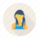 avatar, female, person, profile, style, user, young icon