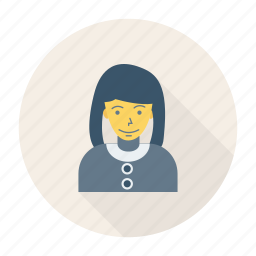 avatar, female, house, lady, person, profile, user icon