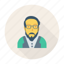 profile, old, avatar, person, user, man, glasses