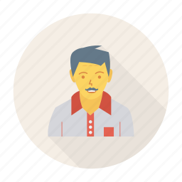 avatar, hotel, manager, person, profile, user, worker icon