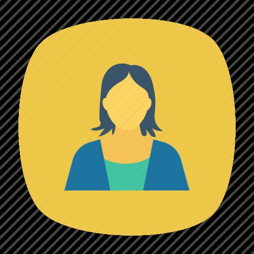 avatar, female, lady, woman icon