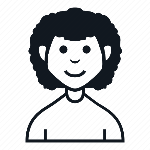 afro, avatar, boy, character, man, people, smile icon