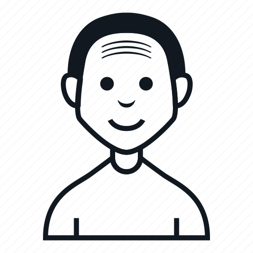 avatar, bald, boy, character, man, people, smile icon