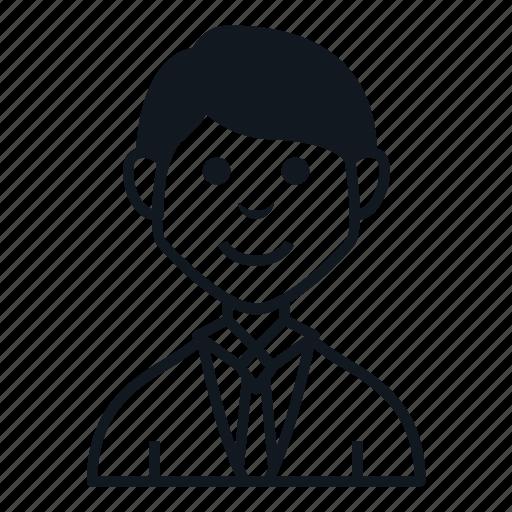 avatar, boy, character, job, man, people, smile icon