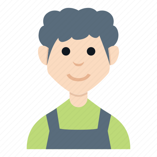 avatar, boy, character, farmer, man, people, smile icon
