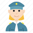 avatar, character, girl, people, police, smile, woman