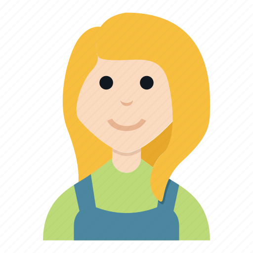 avatar, character, farmer, girl, people, smile, woman icon