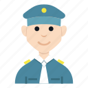 avatar, boy, character, man, people, police, smile icon