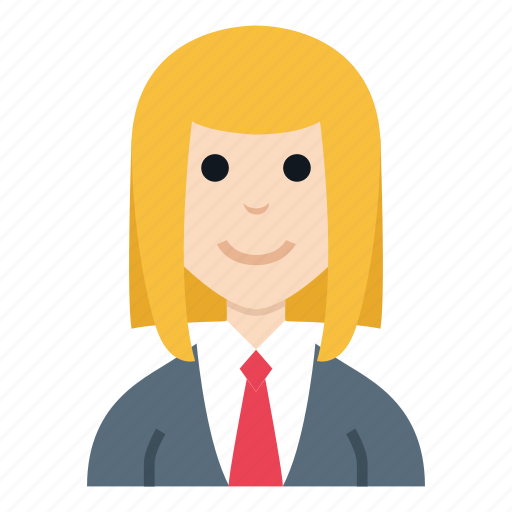 avatar, character, girl, people, reporter, smile, woman icon