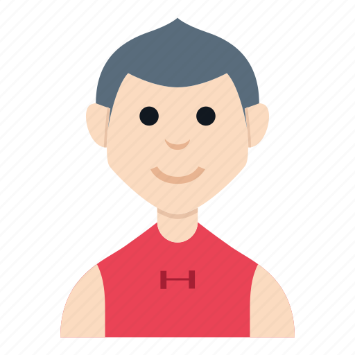 avatar, boy, character, man, people, smile, workout icon