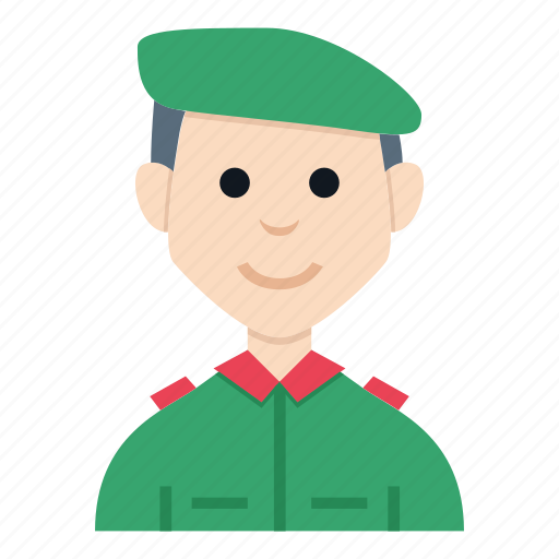 avatar, boy, character, man, people, smile, soldier icon