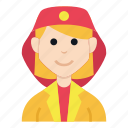 avatar, character, girl, job, people, smile, woman icon