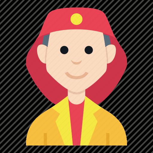 avatar, boy, character, fireman, man, people, smile icon
