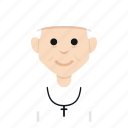 avatar, character, christian, father, man, people, smile icon