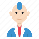 avatar, boy, character, man, people, punk, smile icon
