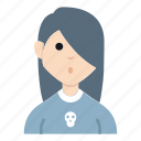 avatar, character, girl, metal, people, smile, woman icon