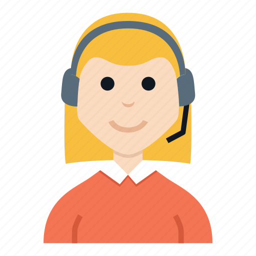 avatar, character, customer service, girl, people, smile, woman icon
