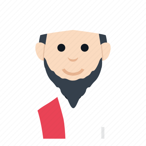 avatar, boy, character, man, muslim, people, smile icon