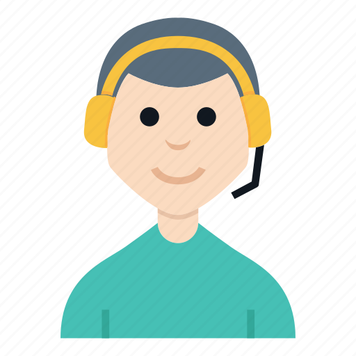avatar, boy, character, customer service, man, people, smile icon