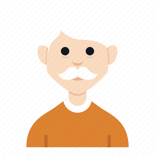 avatar, character, grand father, grandpa, man, people, smile icon