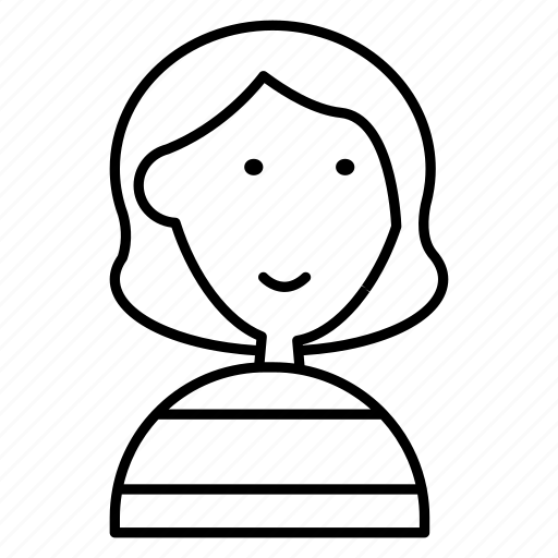 ava, avatar, curly, hair, man, tshirt, woman icon
